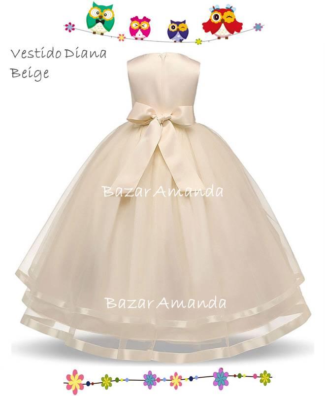 Vestido Diana Beige